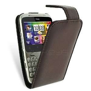 Leather Flip Case for HTC ChaCha with Screen Protector Electronics