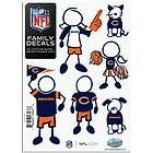 Chicago Bears Small  6 Pieces NFL Family Vinyl Decals