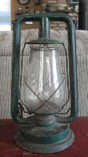 Barn, railroad lantern, antique, glass and tin, Paulls