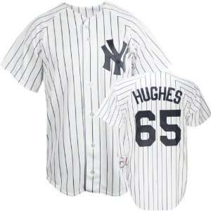 Philip Hughes New York Yankees Home Pinstripe MLB Replica Jersey