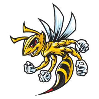 Angry Bee hornet Attack Decals Stickers motorbike vinyl Car Window