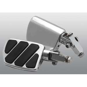 Chrome FlatfootTM Motorcycle Wide Foot Pegs (pair)   Frontiercycle