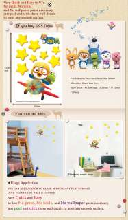 P35 6 PORORO BIG LUMINOUS Kids Wall Deco Decals Sticker