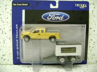 John Deere Yellow Ford F 150 w/ Pup Trailer