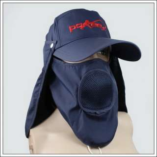 New Dark Blue Mens Fishing Outdoor SUN Hat Hooded Cap
