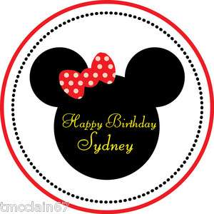 Minnie Mouse ears edible cake image   8 inch round