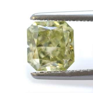 Fancy Grayish Yellowish Green 1.05 Carat Diamond GIA Certificate