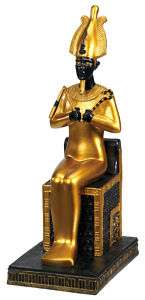 Egyptian Sitting Osiris Statue Figurine Seated Figure