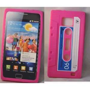 Mobile Palace   Pink Cassette silicone case cover pouch