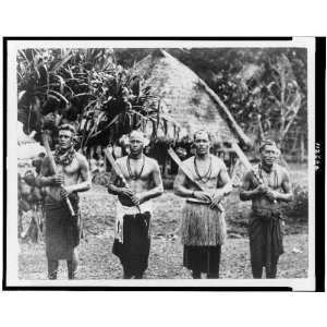 Native chiefs of Pago Pago, American Samoa, 1930s: Home