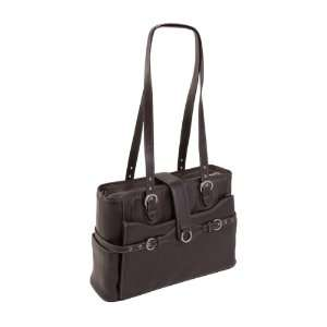 Siamod Fratti Leather 15.4 Laptop Tote   Chocolate