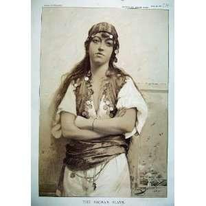 1887 Sepia Print PachaS Slave Girl Costume Woman Lady