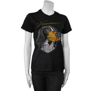 Tennessee Volunteers Black Ladies Rhinestone T shirt