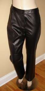 NWT JONES NEW YORK COLLECTION Black 100% Genuine Leather Pants size 8