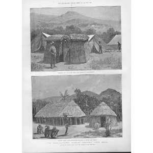 Camp Massa Kessi, Mendigo Village Nr Beira Africa 1892