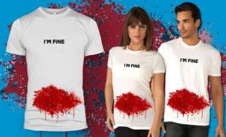 Fine Tshirt funny bloody shirt classic graphic tee