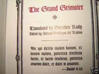 OCCULT GRAND GRIMOIRE BLACK MAGIC RITUAL WITCHCRAFT