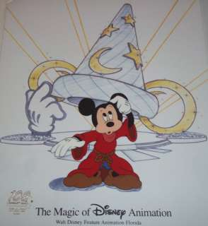 MICKEY MOUSE ~ HATS OFF HAND PAINTED ANIMATION GALLERY CEL~ MINT
