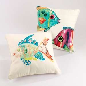 Blumlt Fsh Tropical Fish Decorative Pillows