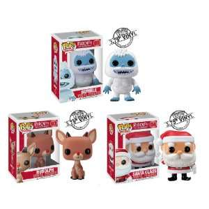 Funko POP Holiday   Vinyl Figures   Set of 3 Rudolph Red Nosed