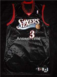 ALLEN IVERSON GAME WORN AUTOGRAPHED 76ERS 2006 07 ADIDAS JERSEY 44+2