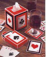 PLAYING CARD SET PATTERNS ONLY**PLASTIC CANVAS PATTERN**