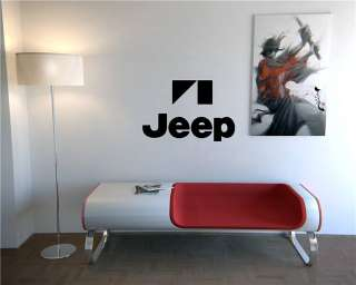 WALL VINYL STICKER DECAL CAR LOGO DEALERSHIP GARAGE JEEP WRANGLER