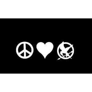 Love Mockingjay Symbol Hunger Games Car Window Decal Sticker White 6