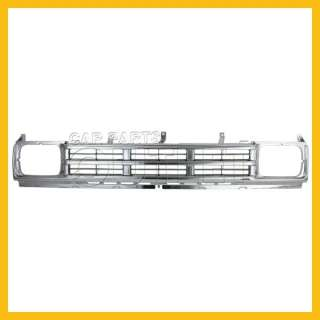 90 91 92 NISSAN HARDBODY D21 PICKUP CHROME GRILLE NEW
