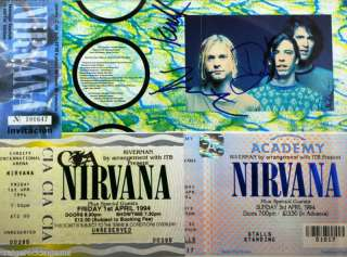 Kurt Cobain Nirvana Signed AUTOGRAPH Nevermind+PSA/DNA+