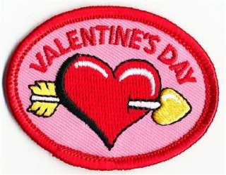 Girl VALENTINES DAY HEART Patches Crests SCOUTS/GUIDES