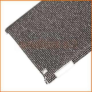 Bling Rhinestone Hard Plastic Protective Case Cover for iPad 2   Black