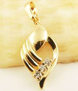 Princess White CZ 14k Rose Gold Filled Pendant Newly