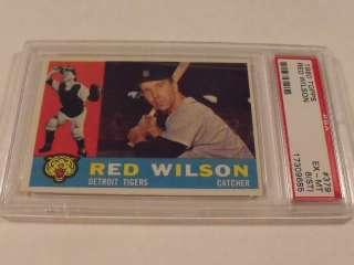 1960 Topps #379 RED WILSON Detroit Tigers   PSA 6 EX MT