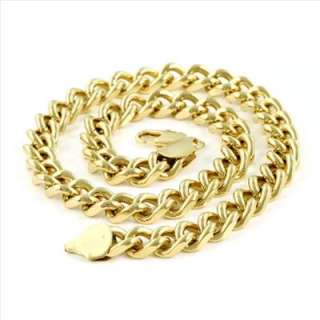 Super Mens 18K Yellow Gold Filled Rope Chain Necklace