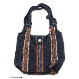 Wool handbag, Casual Stripes
