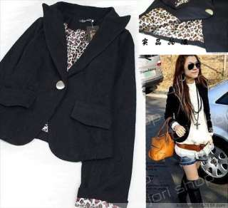 Women Single Button Suit Leopard Inner Outerwear GC51