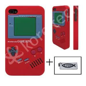 Nintendo Game Boy Gameboy Silicone Case Red For iPhone 4
