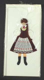 HANDMADE Greeting Card   Polish Folk Costume POLAND [1]