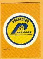 1979 NASL ROCHESTER LANCERS LOGO DECAL STICKER CARD