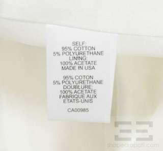 Nanette Lepore White Cotton Twist Front Dress Size 2 NEW