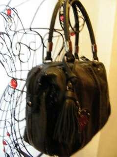 bag purse handbag SATCHEL pocketbook HOBO BLACK 182862 WAVE PATCHWORK
