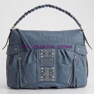 GUESS HANDBAG GIBRALTAR HOBO BAG PURSE FASHION BLUE NWT