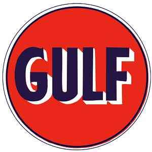 GULF Oil Gasoline Vinyl Sticker Decal 18 (vintage)
