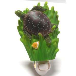 Night Light Turtle w/ Green SeaGrass Night Light,This is High Quality