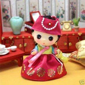 Lovely Cute Doll Figure DDUNG Mini Hanbok Pink