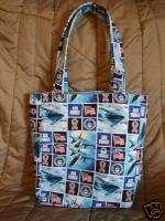 Air Force Handmade Fabric Boutique Bag Purse