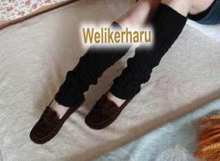 HIGH QUALITY SOFT WOMENS FASHION KNIT CROCHET WOOL LEG WARMER LEGGING
