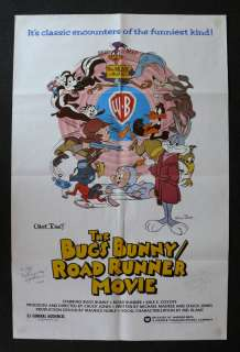 BUGS BUNNY ROAD RUNNER 1SH ORIG MOVIE POSTER SIGNED 79