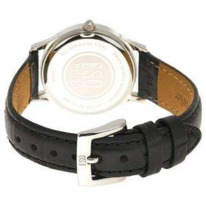 ESQ by Movado Womens 07100770 Folio Ion Plated Black Dial Leather